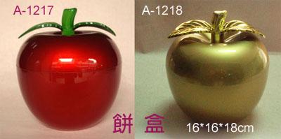 苹果造型饼盒图片